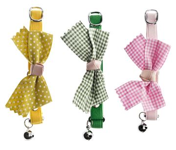 DISPLAY CAT COLLARS BIG BOW 9 PCS