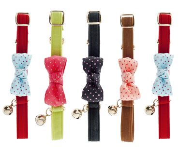 RIBBON CAT COLLAR POIS 10PCS.