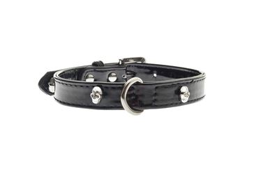 OFF SKULLS COLLAR 1,5X35CM BLACK