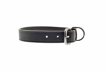 BLACK OLD LEATHER COLLAR 2X50CM