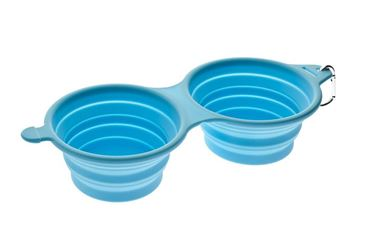 SILICONE DOUBLE BOWL 210MLX2 LIGHT BLUE