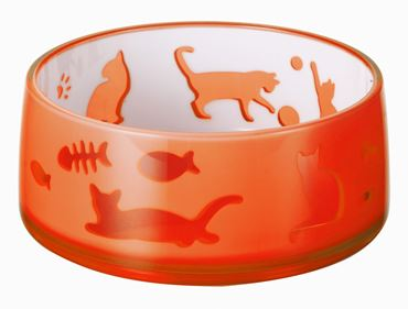 DUOWORLD CAT BOWL 330ML-11,8X5CM ORANGE