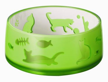 DUOWORLD CAT BOWL 330ML-11,8X5CM GREEN