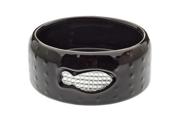 PORCEL.BOWL STRASS CAT 14,5X5,5CM BLACK