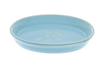 LOW CERAMIC CAT BOWL 16,5X11CM LIGHT BLU