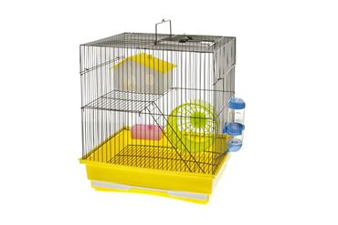 HAMSTER CAGE 2PC35X28X37C WHIT/BLUE