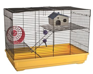 HAMSTER CAGE 3PC 35X28X53C  LARGE