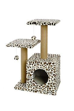 LEOPARDO CAT TREE DOUBLE 44X33X71CM