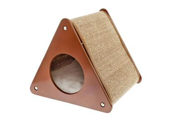 TRIANGLE W BURROW CAT TREE 40X39X30