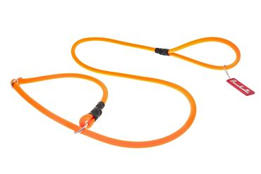 OFF FUN SILICON LEASH+COLLAR 1X165 ORANG