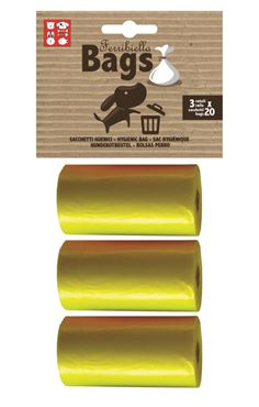 Bild von REPLACEMENT BAGS 3ROLLS X 20BAGS YELLOW