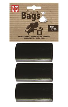 Bild von REPLACEMENT BAGS 3ROLLS X 20BAGS BLACK