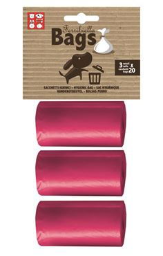 REPLACEMENT BAGS 3ROLLS X 20BAGS PINK