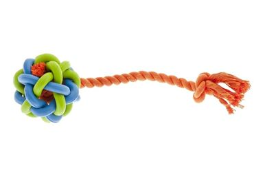Bild von RUBBER BRAIDED BALL W/ROPE CM 7,5