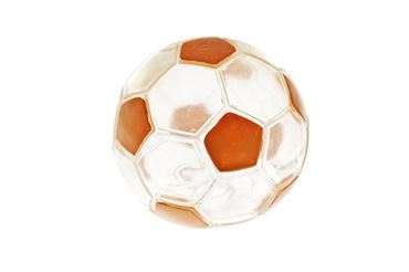 FOOTBALL BALL COLORFUL TPR 12,5CM