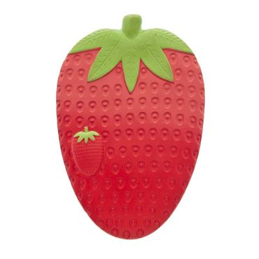 FRAGOLA IN GOMMA NATURALE 11X7X1CM 75GR