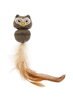 LITTLE OWL W/FEATHER AND CATNIP 5,5