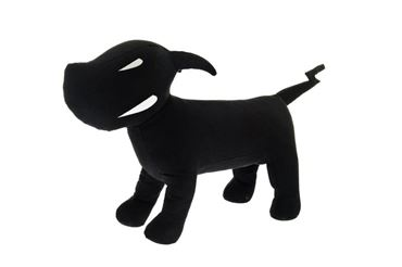 FABRIC DOG MANNEQUIN 30CM BLACK