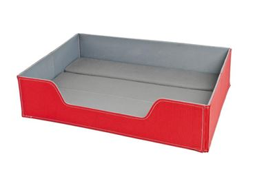 FUSS ON THE WAY BEDS 60X44X14,5CM RED