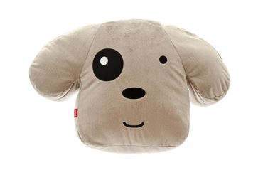FUSS DOG HEAD PILLOW 40X65X15 CM