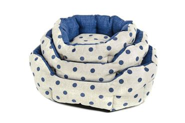 3 OVAL POIS DOGBEDS 40-50-60CM BLUE