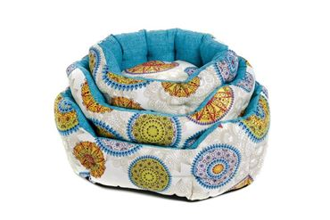 3 OVAL ANDALUSIA DOGBEDS 40-50-60CM BLUE
