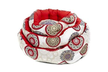 Bild von 3 OVAL ANDALUSIA DOGBEDS 40-50-60CM RED
