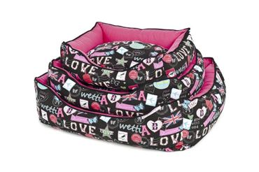 DOGBEDS CANVAS 50-60-70CM LOVE