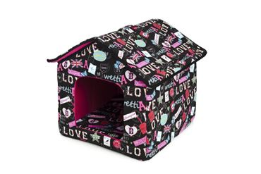 Изображение DOGBED HOUSE CANVAS 45X47X46CM LOVE
