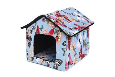 Изображение DOGBED HOUSE CANVAS 45X47X46CM BUTTERFLI
