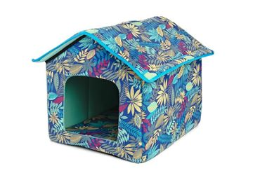 DOGBED HOUSE CANVAS 45X47X46CM JUNGLE