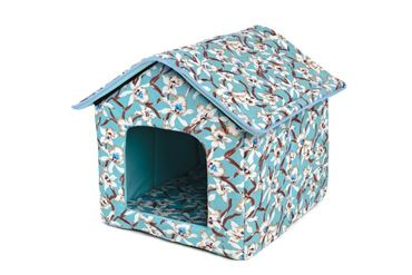 DOGBED HOUSE CANVAS 45X47X46CM ORCHID