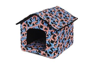 DOGBED HOUSE CANVAS 45X47X46CM STARS