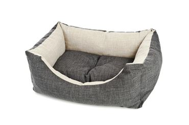 RECT.COOL GREY DOG BED 120XH.30CM