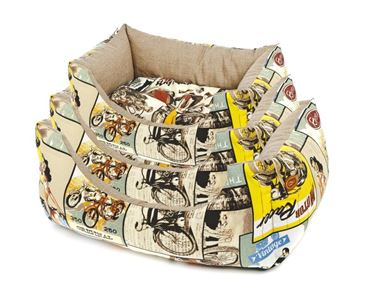 RECT.FIFTIES DOGBEDS 3PC.60-70-80CM