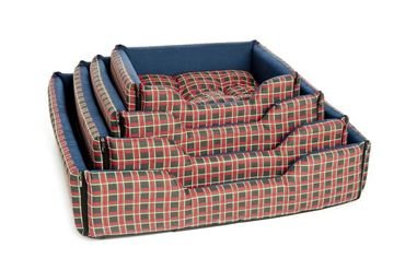 DOGBEDS SCOTTISH RECT. 4 PCS RED