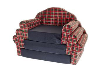 DOGBEDS SOFA 44-51-59CM RED