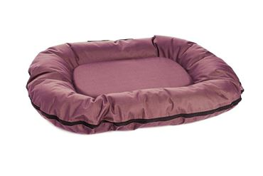 COUSSIN OXFORD IMP. OVAL 80X60CM BORDEAU