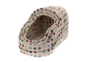 DOGBEDS COTTON 40-45-50CM STARS
