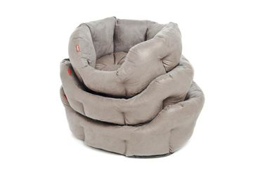 DOGBEDS SUEDE SYNTH. 49-54-60CM GREY