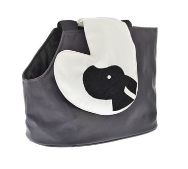 BURCINA SHOULDER BAG CM.33X25H BLACK