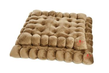 BIG COOKIES 2PCS 65X55CM-85X75CM BROWN