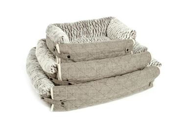 DOG BEDS SOFA SOFT 90-107-125 CM GREY