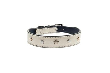 Bild von LEATHER STARS COLLAR WITH LEASH
