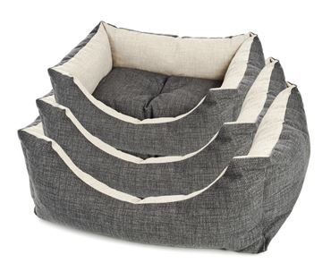 RECT.COOL GREY DOGBED 1PCS L 80CM