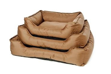 DOG BED OXFORD WATERPR. 61X48X18CM BROWN