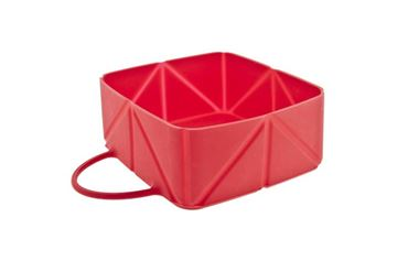 TRAVEL FOLDING BOWL 12X12X5CM RED