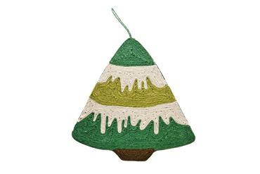 CAT SCRATCH CHRISTMAS TREE 43X40CM