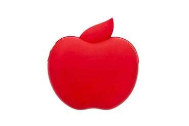 BAGS CARRIES APPLE 9X9X3,7CM RED