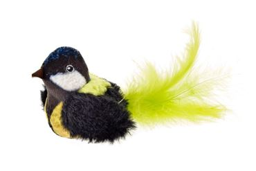 CIP-CIP BLACK BIRD W/FEATHERS 8CM
